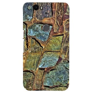 Fuson Designer Phone Back Case Cover Huawei Nexus 6P ( Floor With Different Stones )