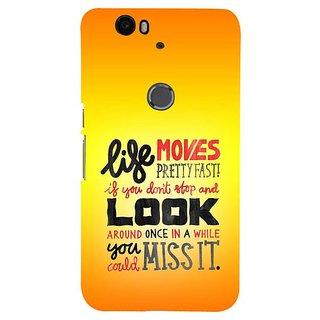 Fuson Designer Phone Back Case Cover Huawei Nexus 6P ( Stop Wait Look Around Go )