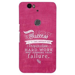 Fuson Designer Phone Back Case Cover Huawei Nexus 6P ( Learning From Failure Gives Success )