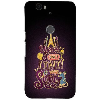 Fuson Designer Phone Back Case Cover Huawei Nexus 6P ( Soul Is Your Only Limit )
