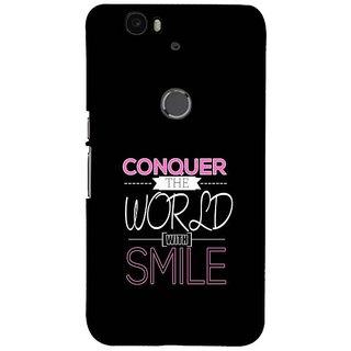 Fuson Designer Phone Back Case Cover Huawei Nexus 6P ( The Power Of Smile )