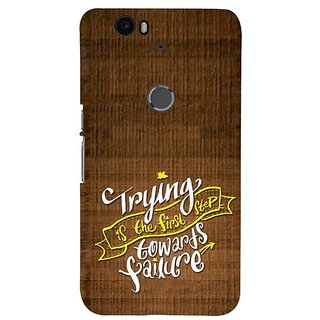 Fuson Designer Phone Back Case Cover Huawei Nexus 6P ( Words Of Wisdom )