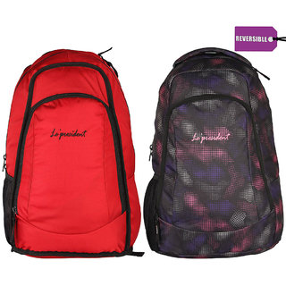 President REVERSIBLE Red School College Bags