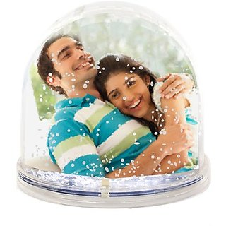 Valentines Day Gifts Snow Globe Photo Frame for Girlfriend,