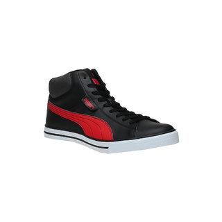 0cf7387b45776b ... Puma Salz Mid Dp Men S Black Lace-Up Casual Shoes ...
