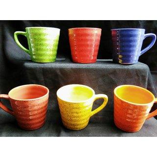 Shining tub shape tea cup