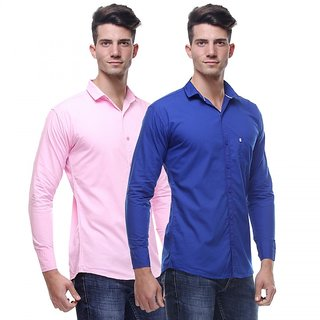 Red Code  Full Sleeves Casual Poly-Cotton Shirts For Men Pack Of 209