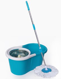 Evershine Self-wringing Floor Cleaning Easy Magic Mop with Stainless Steel Spin Dryer Multicolor