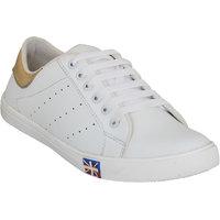 Mykon Men's White Lace-up  Sneakers