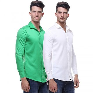 Red Code  Full Sleeves Casual Poly-Cotton Shirts For Men Pack Of 223
