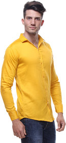 Red Code Yellow Full Sleeves Casual Poly-Cotton Shirt For Men