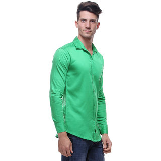 Red Code Green Full Sleeves Casual Poly-Cotton Shirt For Men