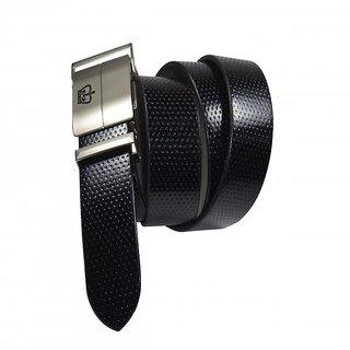 Vbee's London Men Formal, Party Black Genuine Leather Belt