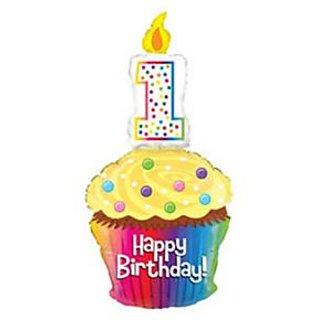 Bettalic Happy Birthday 1st Birthday Cup Cake Option 1