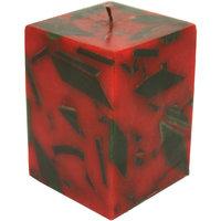 Golmaalshop Square Multi Colored Wax Candle (3 X 6 Inches, Multi-Colored)