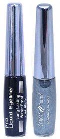 Waterproof Eye Liner Color Fever - Silver N Black