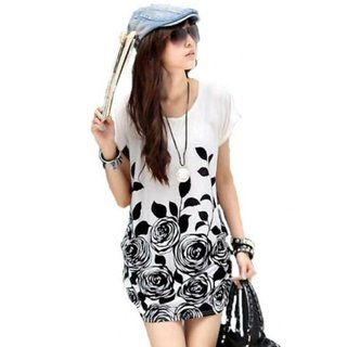 Style White Floral Print Top