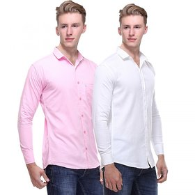 Red Code  Full Sleeves Casual Poly-Cotton Shirts For Men Pack Of 2 13