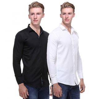 Red Code  Full Sleeves Casual Poly-Cotton Shirts For Men Pack Of 2 18
