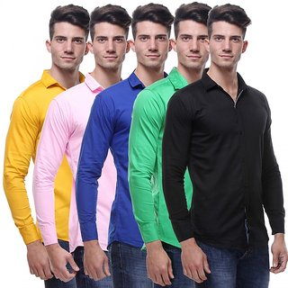Red Code  Full Sleeves Casual Poly-Cotton Shirts For Men Pack Of 5 01