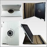 WHITE 360 Degree Rotating Smart Stand Case Cover For New IPad 4 IPad 3 IPad 2