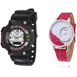 MTG Men and Mxre  Pink Women Watches Couple for Men and women