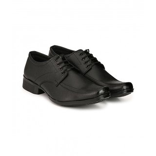 Groofer Mens Black Lace Up Formal Shoes