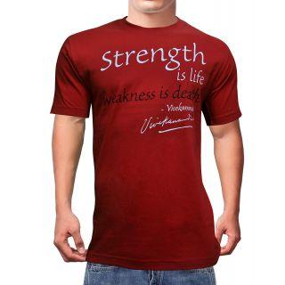 Vivekananda Youth Connect Strength Is Life Mens Tshirt