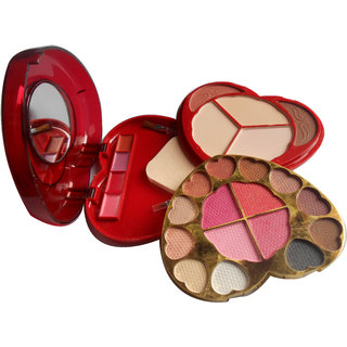 Ads Color Series 15 Eyeshadow 2 Blusher 3 Powder Cake 4 Lipcolour A3900-2