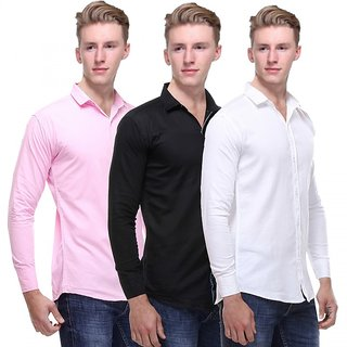 Red Code  Full Sleeves Casual Poly-Cotton Shirts For Men Pack Of 3 11
