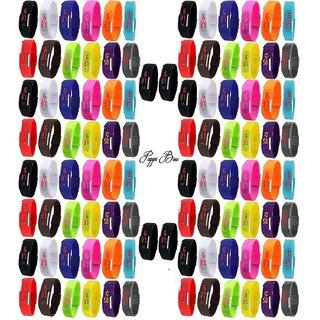 TIGERHILLS - LIMTED TIME - Unisex Multicolor - Set of 100 - JUMBO COMBO - Digital Rubber Jelly Slim Silicone