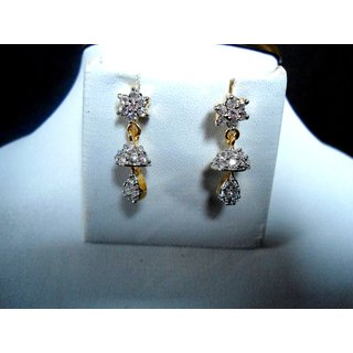 Marvina Designer Jhoomer Shape Small Earings With Stones Embedded