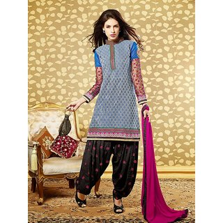 Patiala House Vol 10 Blue Dress Material