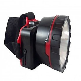 Productmine LED Head Mount Rechargeable Light Torches Emergency Lights  (Red - Black)