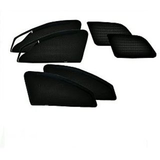 Autohub Black Color Custom Made  Car Window Magnetic Sun Shade With Zipper For Hyundai Grand I10