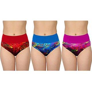 Bm Fashion  Set Of 3 Women's Printed Tummy Tucker Panties