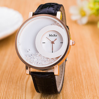 mxre black and white watch for woman