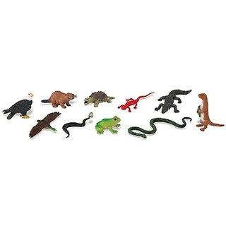 River [Bls-Pk]-12 Pcs(Plastic Toys) - ( Pcs )