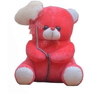 Haripriya Creation I Love You Dark Pink Ballon Heart Teddy- (36 CM)