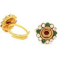 Sukkhi Elegant Gold Plated Australian Diamond Stone Studded Toering
