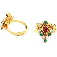 Sukkhi Delightly Gold Plated Australian Diamond Stone Studded Toering