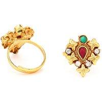 Sukkhi Magnificent Gold Plated Australian Diamond Stone Studded Toering