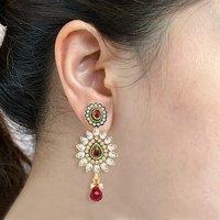 Sukkhi Amazing Gold and Rhodium Plated Kundan Stone Studded Earring
