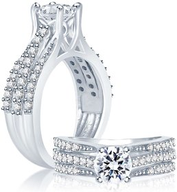 Sukkhi Silver Plated Cubic Zirconia (Cz) Silver Rings For-Women