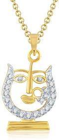 Sukkhi Dazzling Gold and Rhodium Plated Cubic Zirconia Stone Studded God Pendant