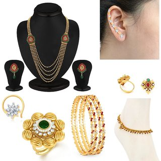 Sukkhi Ravishing 7 Piece Fashion Jewellery Combo