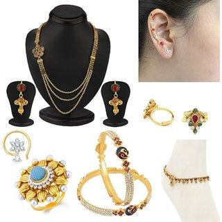 Sukkhi Fine 7 Piece Fashion Jewellery Combo