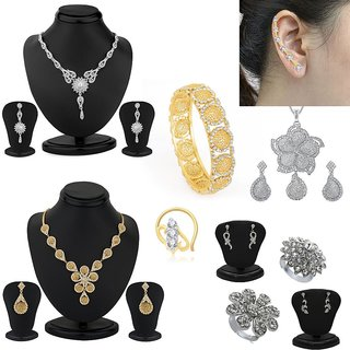 Sukkhi Glistening 10 Piece Fashion Jewellery Combo