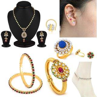 Sukkhi Exquitely 8 Piece Fashion Jewellery Combo