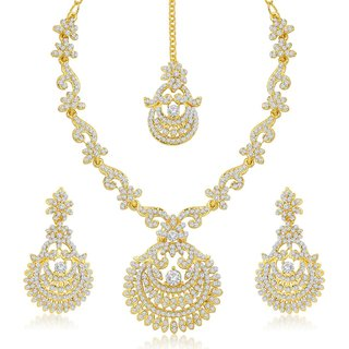 Sukkhi Incredible Gold Plated Australian Diamond Stone Studded Necklace Set